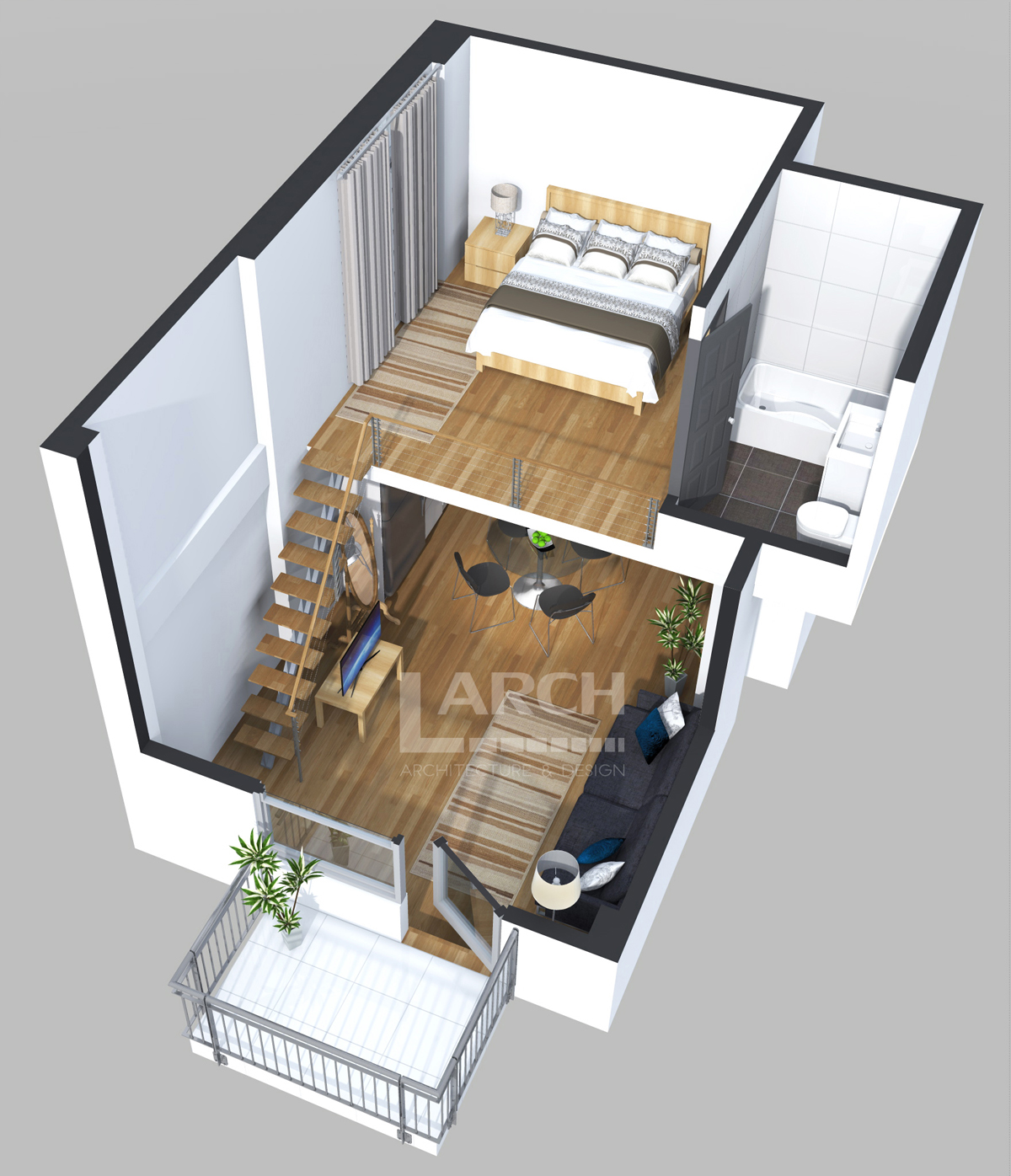 Photorealistic 3d Floor Plans For Real Estate Company L Arch