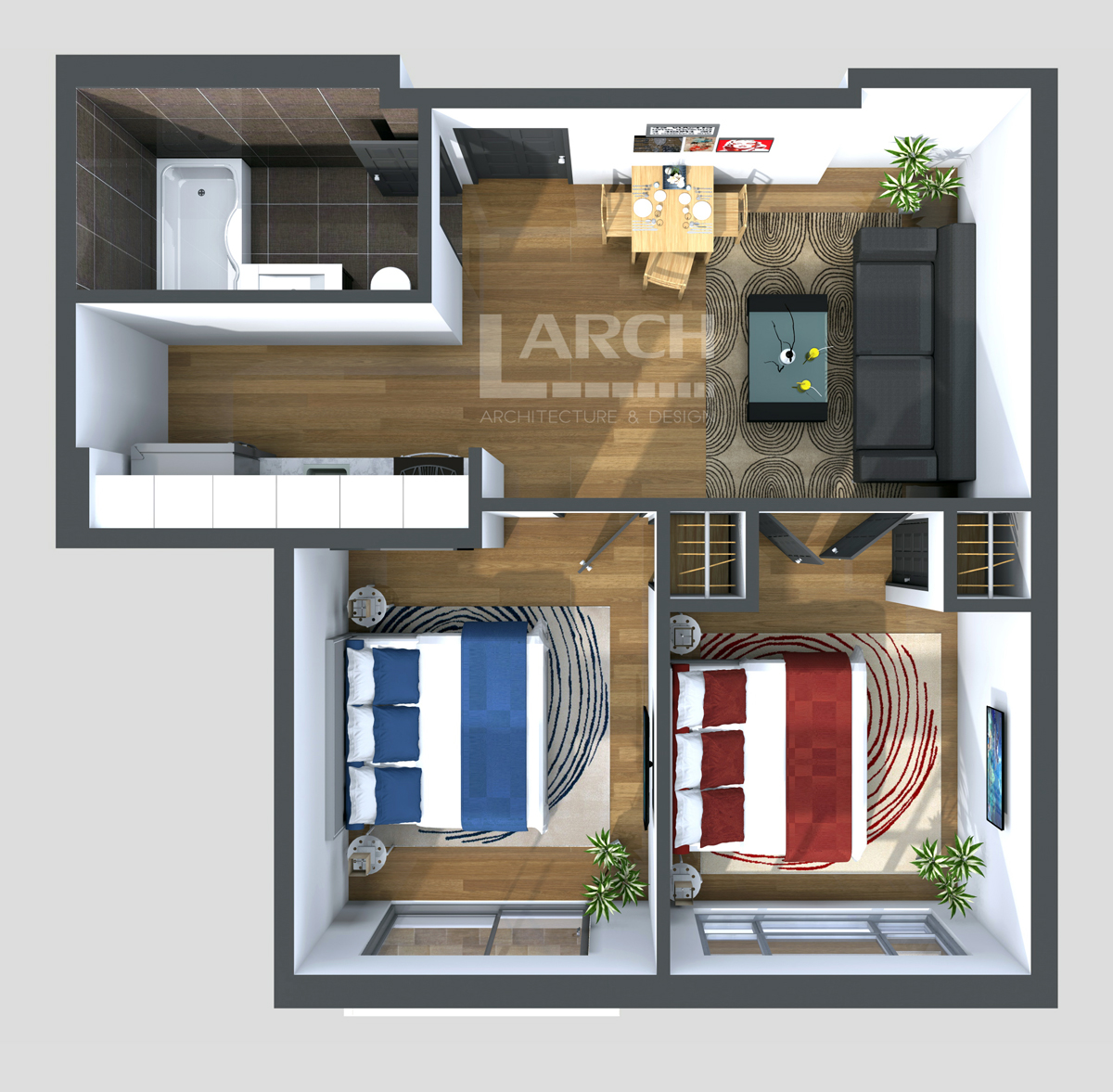Photorealistic 3D Floor Plans