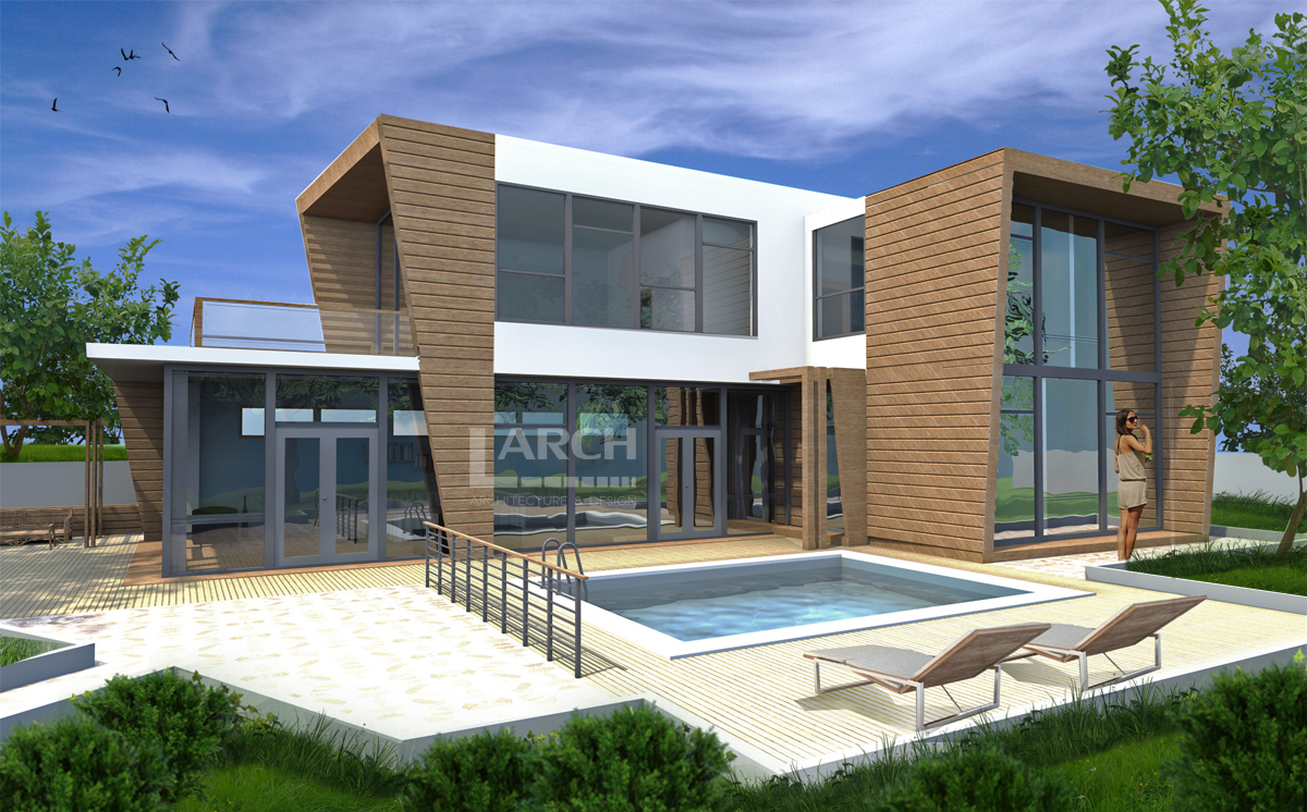 Modern sea house project
